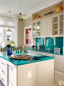 Beautiful And Cozy Green Kitchen Ideas42