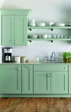Beautiful And Cozy Green Kitchen Ideas45