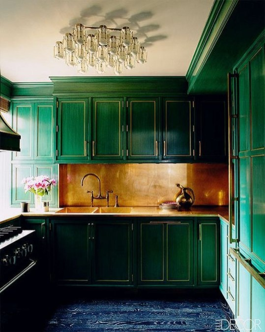 Beautiful And Cozy Green Kitchen Ideas46