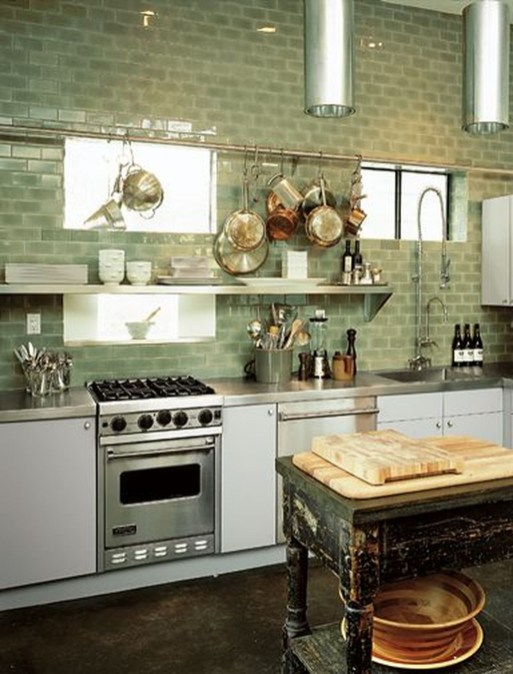 Beautiful And Cozy Green Kitchen Ideas47