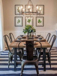 Elegant And Cozy Diningroom Design Ideas37