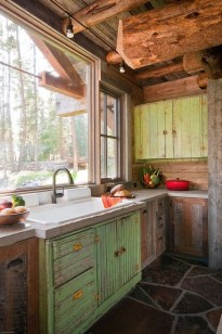 Warm Cozy Rustic Kitchen Designs For Your Cabin01