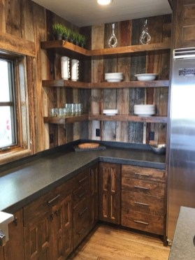 Warm Cozy Rustic Kitchen Designs For Your Cabin07