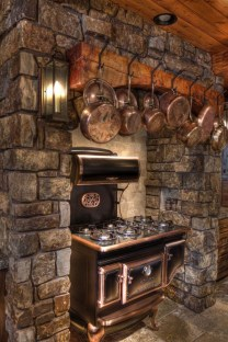 Warm Cozy Rustic Kitchen Designs For Your Cabin10