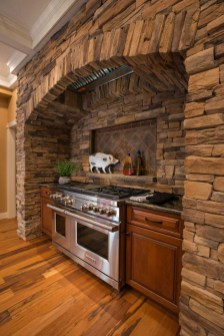 Warm Cozy Rustic Kitchen Designs For Your Cabin14