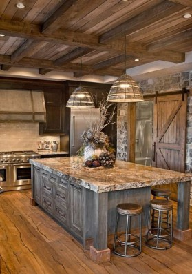 Warm Cozy Rustic Kitchen Designs For Your Cabin15