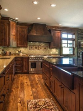 Warm Cozy Rustic Kitchen Designs For Your Cabin34