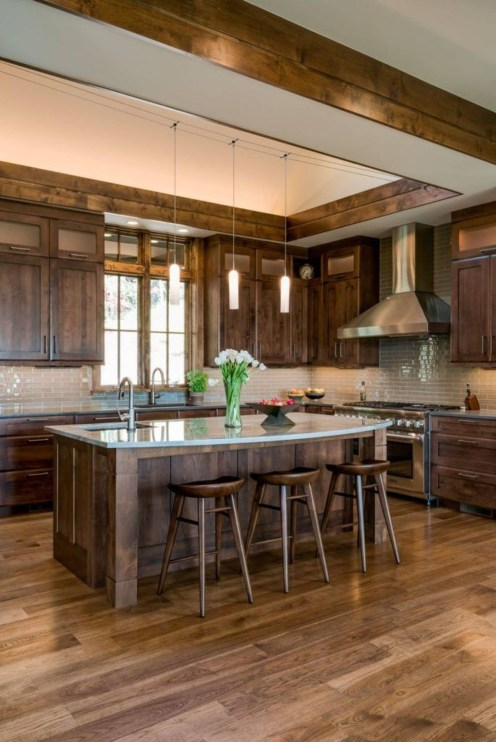 Warm Cozy Rustic Kitchen Designs For Your Cabin40