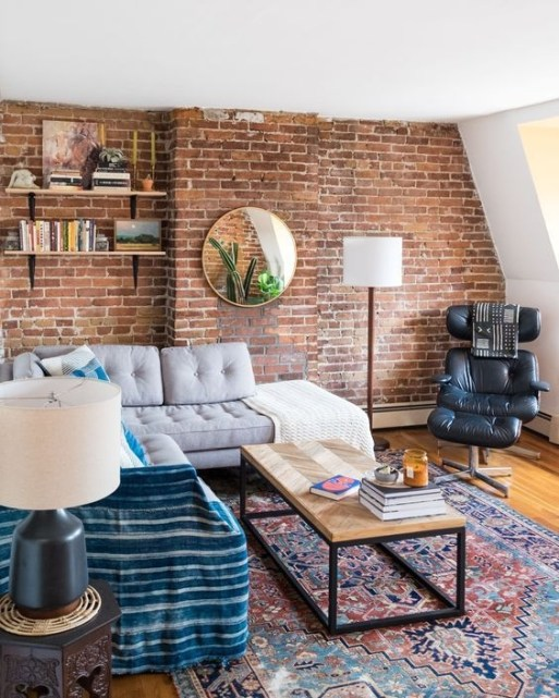 Awesome Brick Expose For Living Room25
