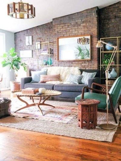 Awesome Brick Expose For Living Room35