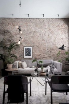 Awesome Brick Expose For Living Room37