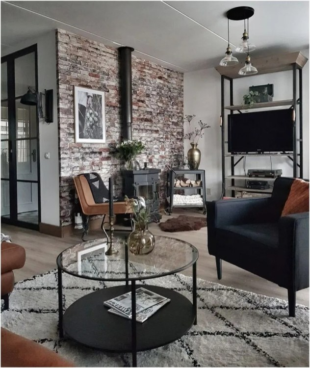 Awesome Brick Expose For Living Room41