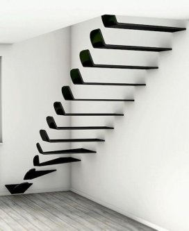 Awesome Flying Stairs Ideas37