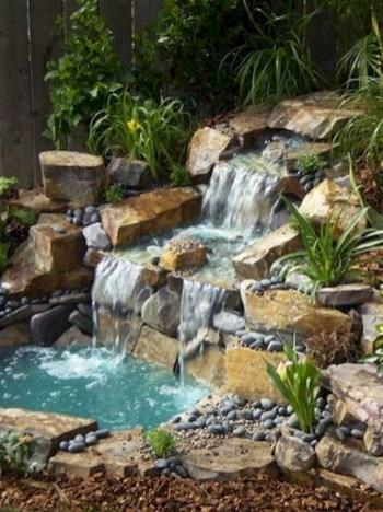 Awesome Garden Waterfall Ideas39