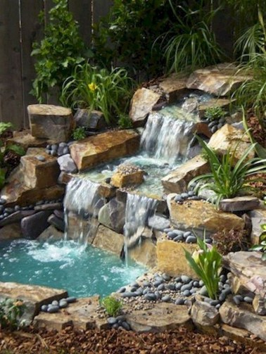 Awesome Garden Waterfall Ideas39