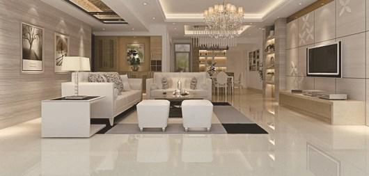 Elegant Granite Floor For Living Room01