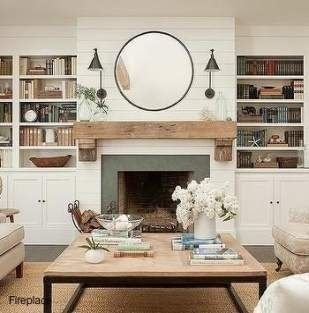 Luxury Family Room Fireplace Ideas03