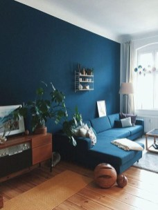 Cozy And Luxury Blue Living Room Ideas01