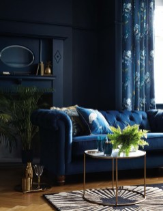 Cozy And Luxury Blue Living Room Ideas29