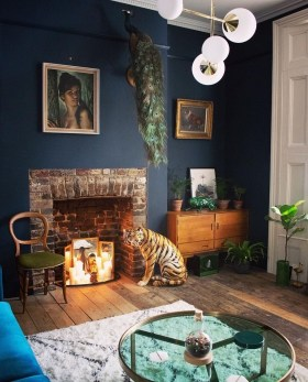 Cozy And Luxury Blue Living Room Ideas33