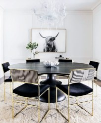 Luxurious Black And Gold Dining Room Ideas For Inspiration02
