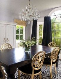 Luxurious Black And Gold Dining Room Ideas For Inspiration04