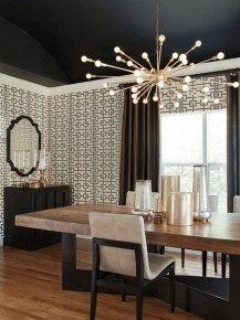 Luxurious Black And Gold Dining Room Ideas For Inspiration11