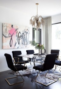Luxurious Black And Gold Dining Room Ideas For Inspiration13