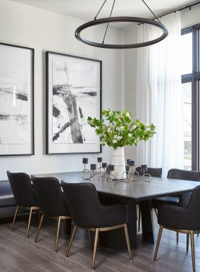 Luxurious Black And Gold Dining Room Ideas For Inspiration15