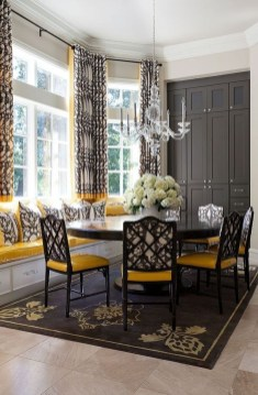 Luxurious Black And Gold Dining Room Ideas For Inspiration18