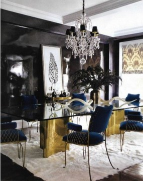 Luxurious Black And Gold Dining Room Ideas For Inspiration25