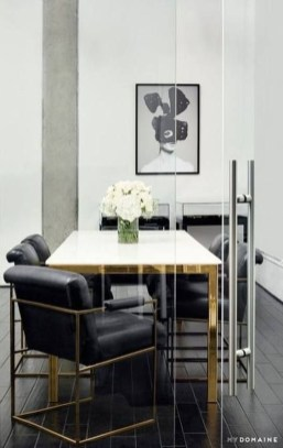 Luxurious Black And Gold Dining Room Ideas For Inspiration34