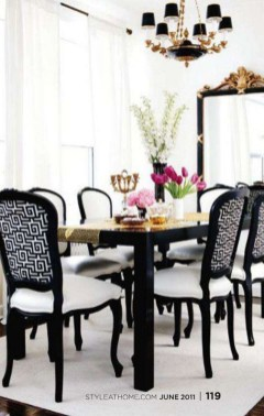 Luxurious Black And Gold Dining Room Ideas For Inspiration35