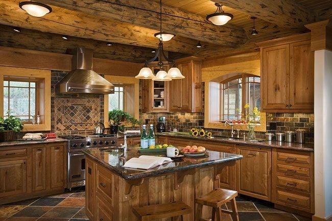 Cozy Rustic Kitchen Designs35