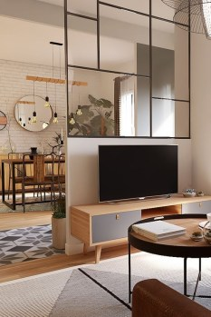 Modern Living Room Partition Ideas36