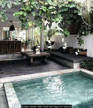 Outdoor Garden With Small Pool Ideas For Home10