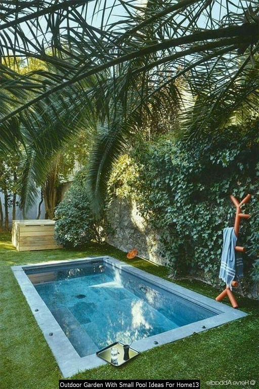 Outdoor Garden With Small Pool Ideas For Home13