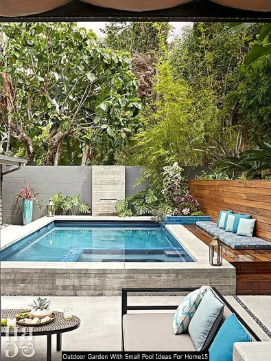Outdoor Garden With Small Pool Ideas For Home15
