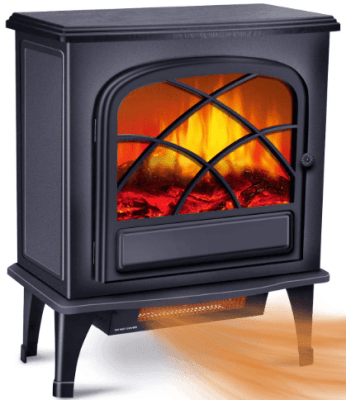 warm living infrared fireplace heater