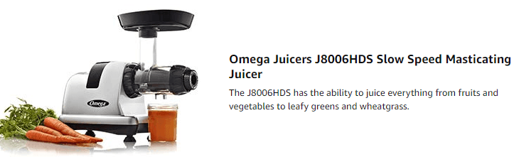 omega masticating slow juicer