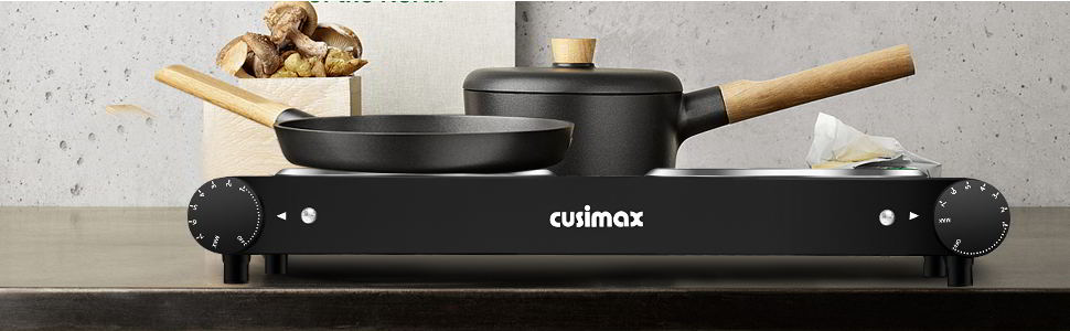 Cusimax 1800W Infrared Double Burner2