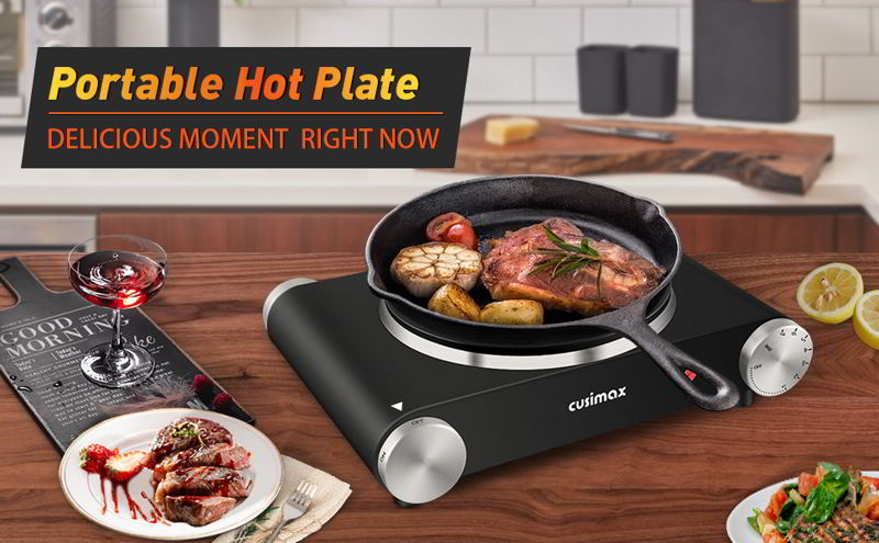 Cusimax Hot Plate Portable Electric Stove