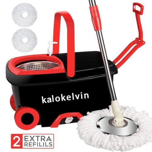Kalokelvin 360 Spin Mop Bucket For Home Floor Cleaning