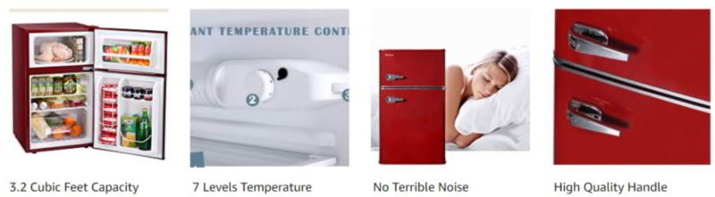 Northair 2-Door Mini Refrigerator