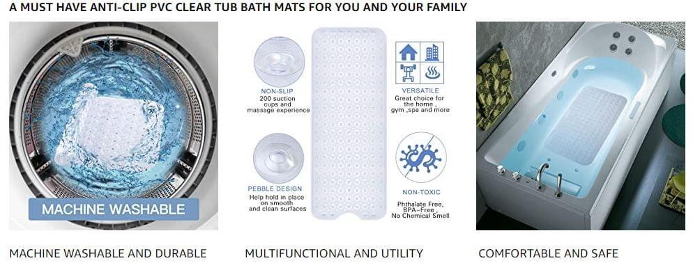 YINENN Bath Tub Shower Mat 1