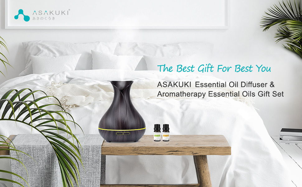 ASAKUKI 400ml Essential Oil Diffuser