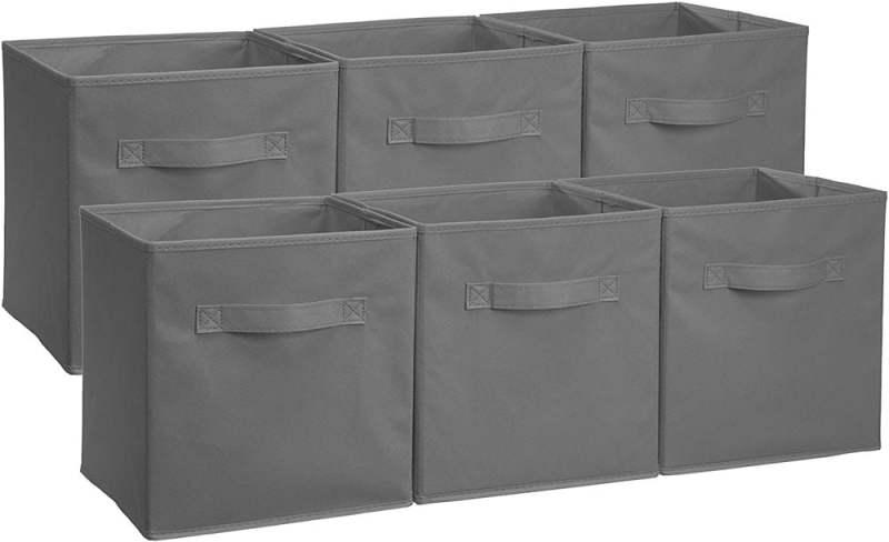 AmazonBasics Collapsible Fabric Storage Cubes Organizer