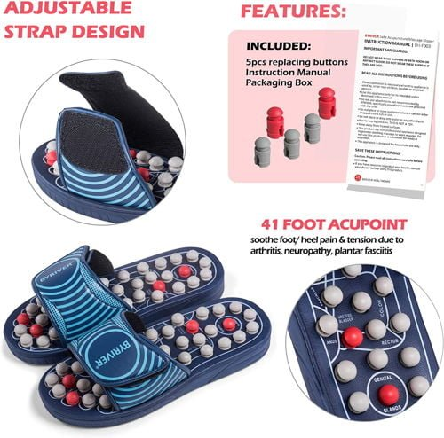 BYRIVER Acupressure Massage Slippers Shoes