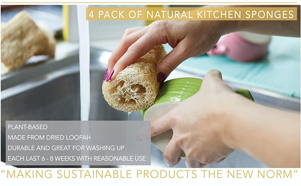 ENEY Eco-Friendly Natural Kitchen Washing Up Sponge