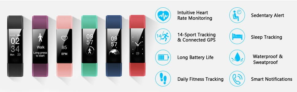 LETSCOM Fitness Tracker HR 1
